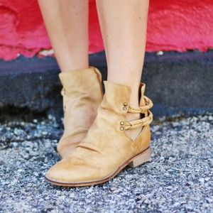 Free People landslide natural ankle boot